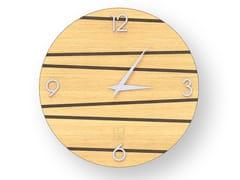 Orologio da parete in legno intarsiato ONE WARM | Orologio - DOLCEVITA LINES