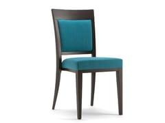 Sedia in legno massello e tessuto con schienale aperto ATLANTA | Sedia con schienale aperto - Atlanta