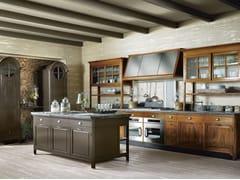 Cucina componibile in legno massello con isolaOPERÀ - COMPOSIZIONE 02 - MARCHI CUCINE