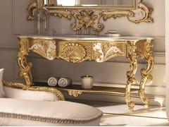 Mobile lavabo singolo foglia oro OPERA | Mobile lavabo foglia oro - Opera