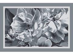 Tappeto a fiori rettangolare in lanaOPHELIA GREY FRAME 1 LARGE - BLOSS