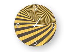 Orologio da parete in legno intarsiatoOPTICAL COLORS | Orologio - LEONARDO TRADE