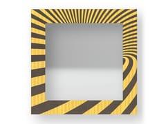 Specchio quadrato da parete con cornice OPTICAL COLORS | Specchio - DOLCEVITA ABSTRACT