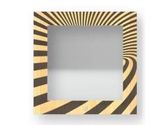 Specchio quadrato da parete con cornice OPTICAL WARM   Specchio - DOLCEVITA ABSTRACT