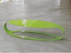 Tavolino basso ovale in lamiera ORA L - Ora