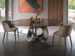 Tavolo da salotto rotondo in marmo ORACLE | Tavolo in marmo -
