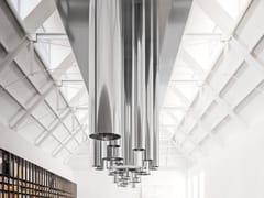 Cappa ad isola in acciaio con illuminazione integrataORGANO - ELMAR