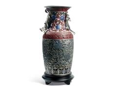 Vaso in porcellanaORIENTAL VASE BLUE - LLADRÓ