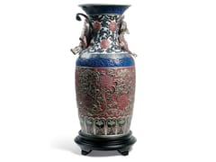 Vaso in porcellanaORIENTAL VASE RED - LLADRÓ