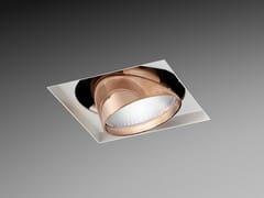 Faretto a LED orientabile in alluminio verniciato a polvere da incasso ORIENTE SQUARE | Faretto da incasso -