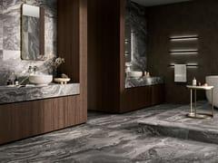 Pavimento/rivestimento in gres porcellanato effetto marmoOROBICO GRIS - EXAGRES
