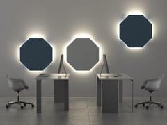 Pannelli decorativi acustici con illuminazione integrata