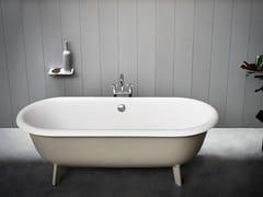 Vasca da bagno ovale in Cristalplant® su piedi OTTOCENTO | Vasca da bagno su piedi - Ottocento