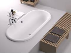 Vasca da bagno ovale in Cristalplant® da incasso OTTOCENTO | Vasca da bagno da incasso - Ottocento
