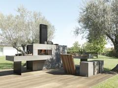 Cucina da esterno in alluminio e pietra piasentinaCucina da esterno - MODULNOVA
