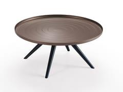 Tavolino basso rotondo in alluminio OUTLINE | Tavolino basso - Oliver B. Casa