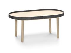 Tavolino da caffè ovale in legno EGON | Tavolino ovale - Egon