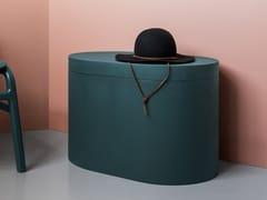 Tavolino / contenitore in frassinoLA CACHE | Tavolino ovale - F&Y