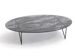 Tavolino ovale in acciaio e cristalloAEROZEPPELIN | Tavolino ovale - MOROSO