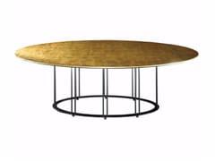 Tavolo da pranzo ovale foglia oro AUREOLA | Tavolo ovale - Aureola