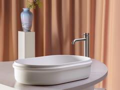 Lavabo da appoggio ovale singolo in Cristalplant®RISE | Lavabo ovale - KOS BY ZUCCHETTI