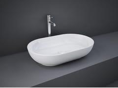 Lavabo da appoggio ovale in ceramicaRAK-FEELING   Lavabo ovale - RAK CERAMICS