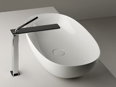 Lavabo da appoggio ovale singolo in ceramicaPOD | Lavabo ovale - VALDAMA
