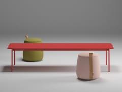 Tavolino rettangolare in legno impiallacciatoOVERLAY | Tavolino rettangolare - BK CONTRACT EQUIPMENT