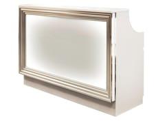 Ufficio Legno E Vetro : Banco reception per ufficio in legno e vetro con illuminazione