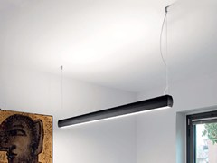 Lampada a sospensione a LED a luce diretta e indiretta in alluminio estruso OVO | Lampada a sospensione a luce diretta e indiretta - Ovo