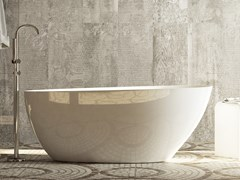 Vasca da bagno centro stanza ovale in Luxolid®LEAFY - RELAX DESIGN