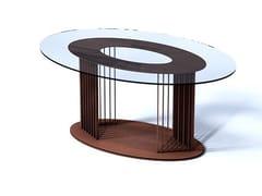 Tavolo da salotto ovale in acciaio e vetroOVOV   Tavolo in acciaio e vetro - TRACKDESIGN