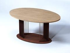 Tavolo da salotto ovale in acciaio e legnoOVOV   Tavolo in acciaio e legno - TRACKDESIGN
