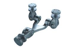 Sistema e profilo di ancoraggio per facciata in alluminio OXIDAL 1040 -