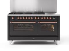 Cucina a libera installazione in acciaioP15N | Cucina a libera installazione - ILVE