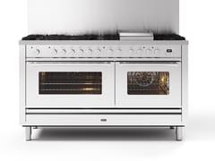 Cucina a libera installazione in acciaioP15W | Cucina a libera installazione - ILVE