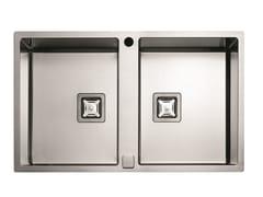 Lavello a 2 vasche in acciaio inoxP2B 7651 QA F-SF | Lavello - FULGOR MILANO BY MENEGHETTI