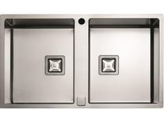 Lavello a 2 vasche in acciaio inoxP2B 8651 QA F-SF | Lavello - FULGOR MILANO BY MENEGHETTI
