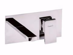 Miscelatore per lavabo a muro monocomando con piastra PABLOLUX - F9810 - Pablolux