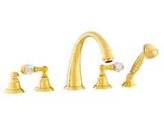 Set vasca a 5 fori con cristalli Swarovski® PACIFICA | Set vasca con cristalli Swarovski® - Pacifica