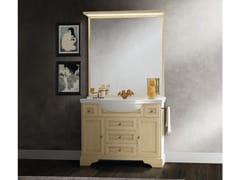 Mobile lavabo in legno con cassetti con specchioPAESTUM 52 - CERASA