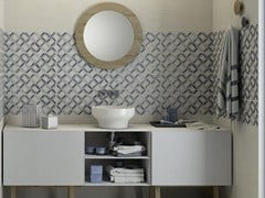 Rivestimento in ceramicaPAINT   Decoro Bianco Grigio Blu MMTW - MARAZZI GROUP