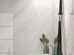 Pavimento/rivestimento in ceramica sinterizzata effetto marmoPALISANDRO WHITE - SANICERAMIC IMPORT AND EXPORT