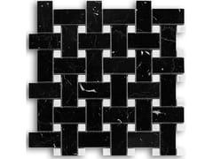 Mosaico in marmoPANAMA   NERO MARQUINA BIANCO CARRARA - IDEAMARMO