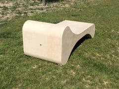 Panchina in pietra ricostruitaOSSO - MANUFATTI VISCIO