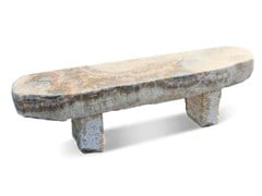 GRANULATI ZANDOBBIO, PANCHINA ONICE Panchina in pietra naturale senza schienale