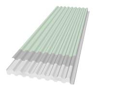Pannello metallico per copertura retto PANEL R-GG TPO -