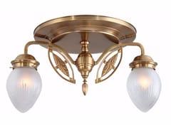 Lampada da soffitto fatta a mano in ottonePANNON 2 - PATINAS LIGHTING