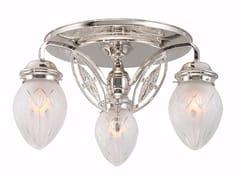 Lampada da soffitto fatta a mano in ottonePANNON 3   Lampada da soffitto - PATINAS LIGHTING