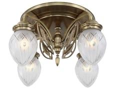 Lampada da soffitto fatta a mano in ottonePANNON 4 - PATINAS LIGHTING